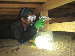 床下防除施工 イメージ